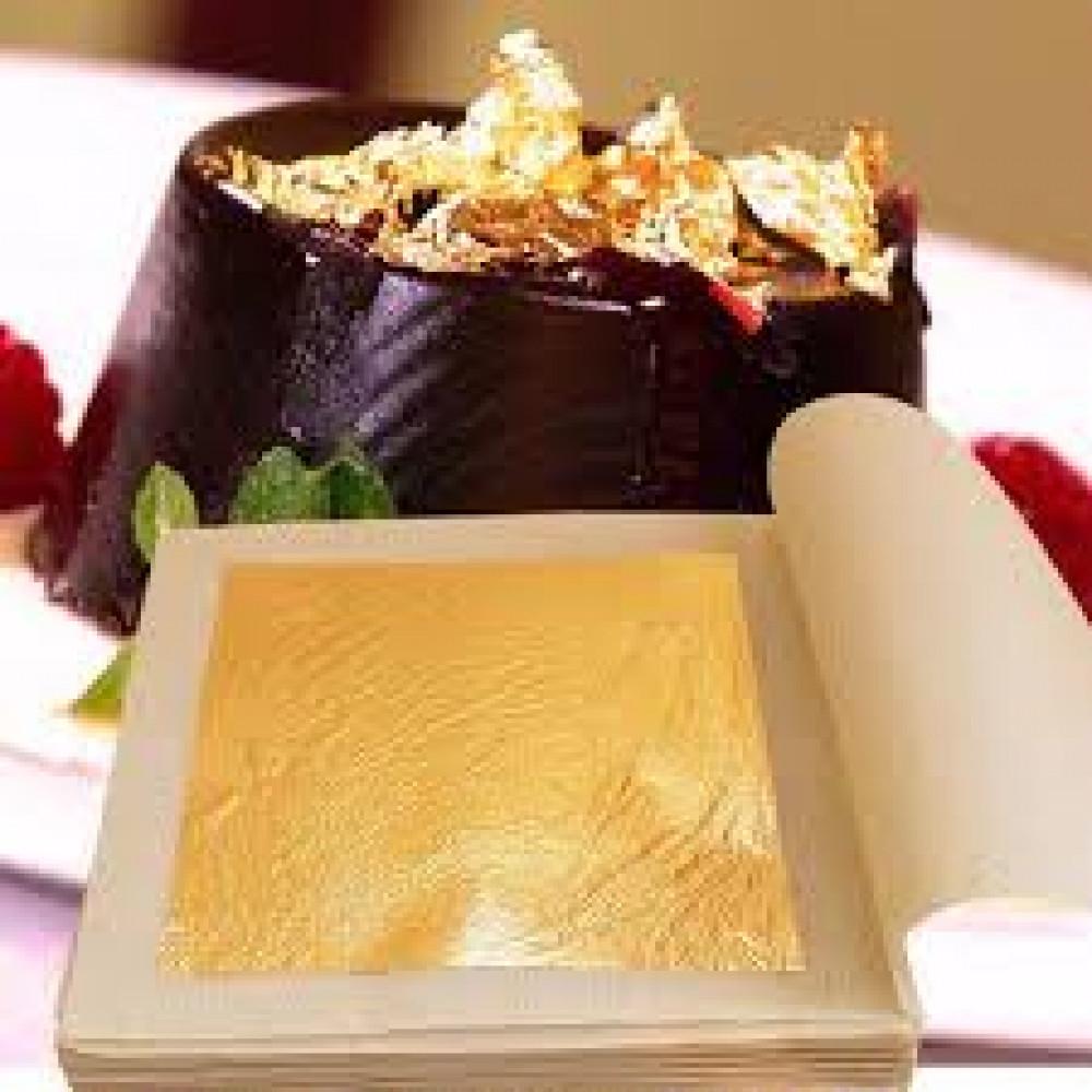 Золото в листах 80х80 (25листов) 23карат (999)