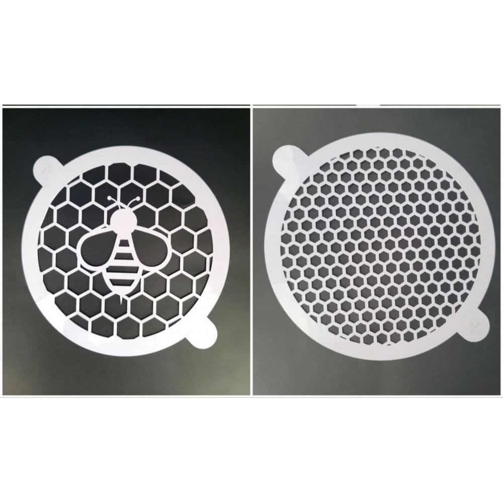Круглый трафарет пчёлка диаметр 18см