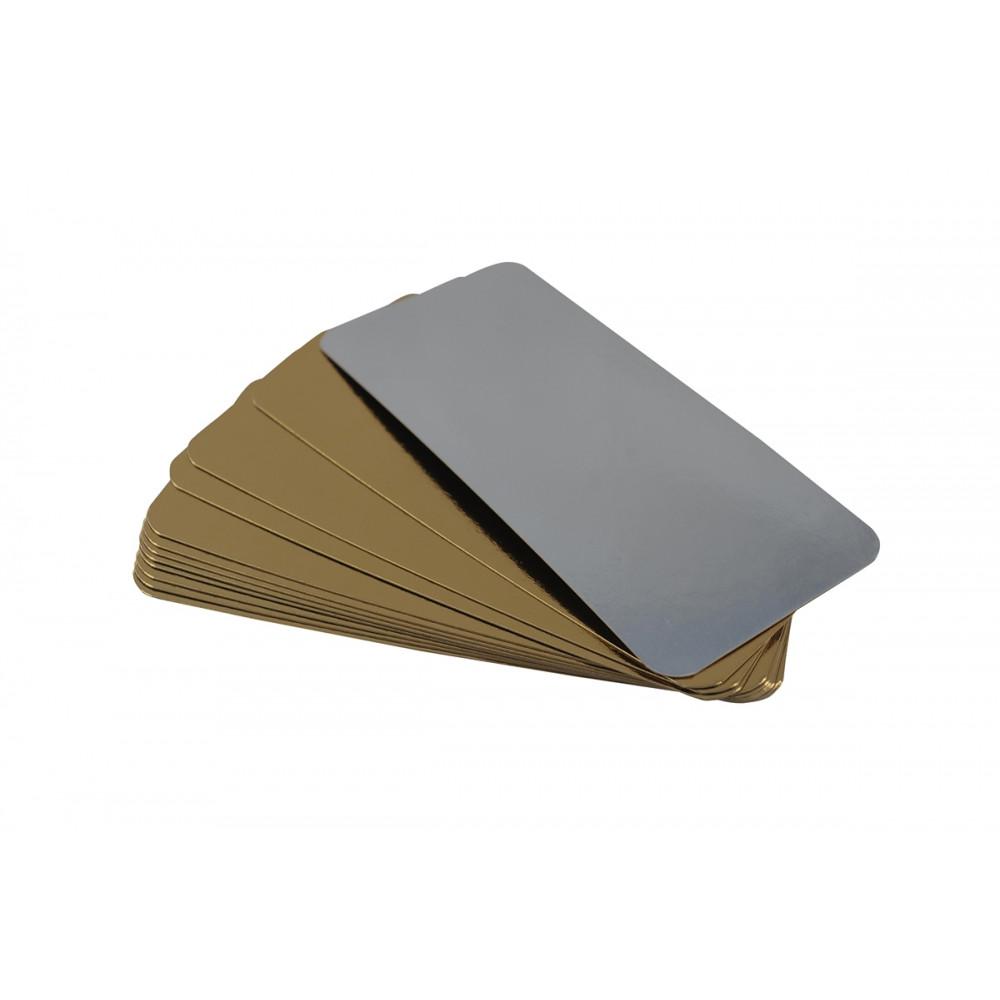 Подложка ламинированная золотая/серебряная 130х300 (10шт)
