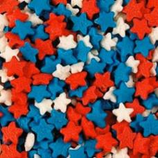 Посыпка Звёзды красно-бело-синие 500г