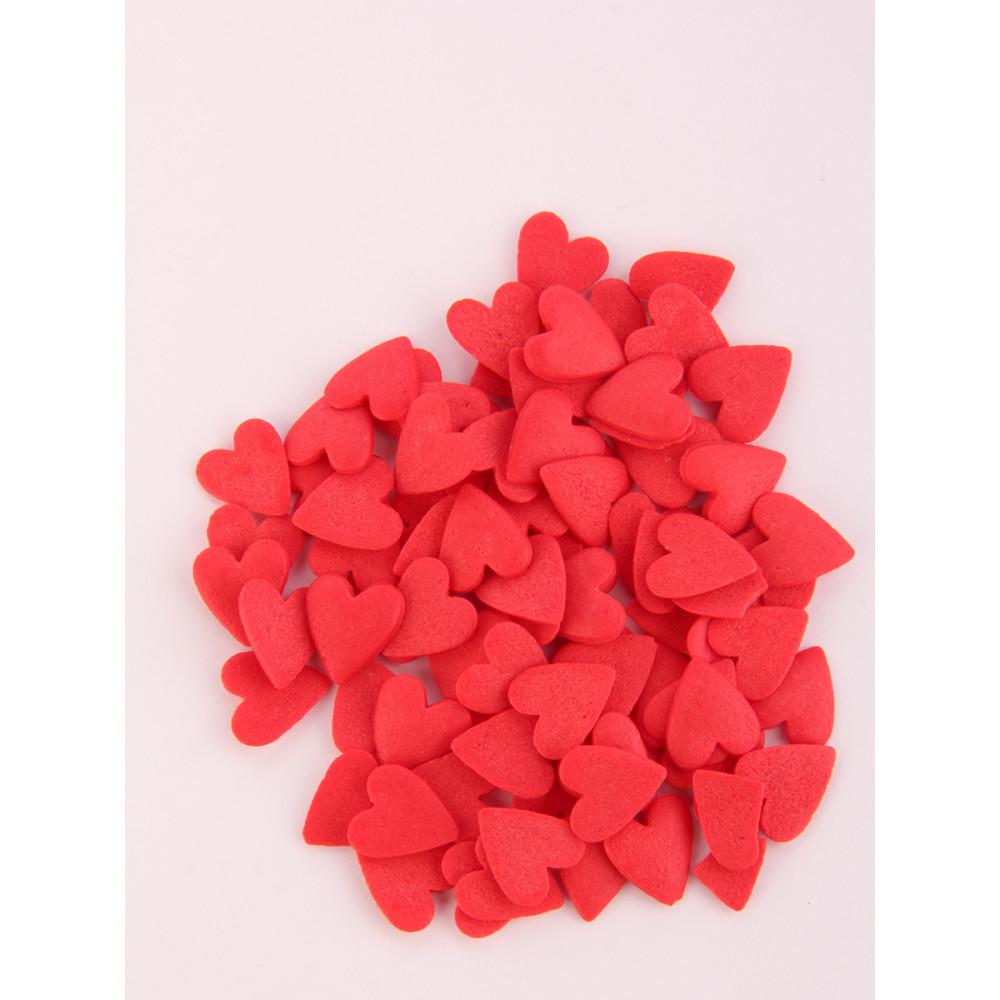 Посыпка Сердечки красные, мешок 500г