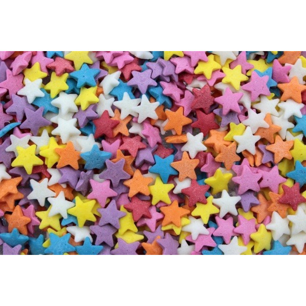 Посыпка Звёзды разноцветные, мешок 500г