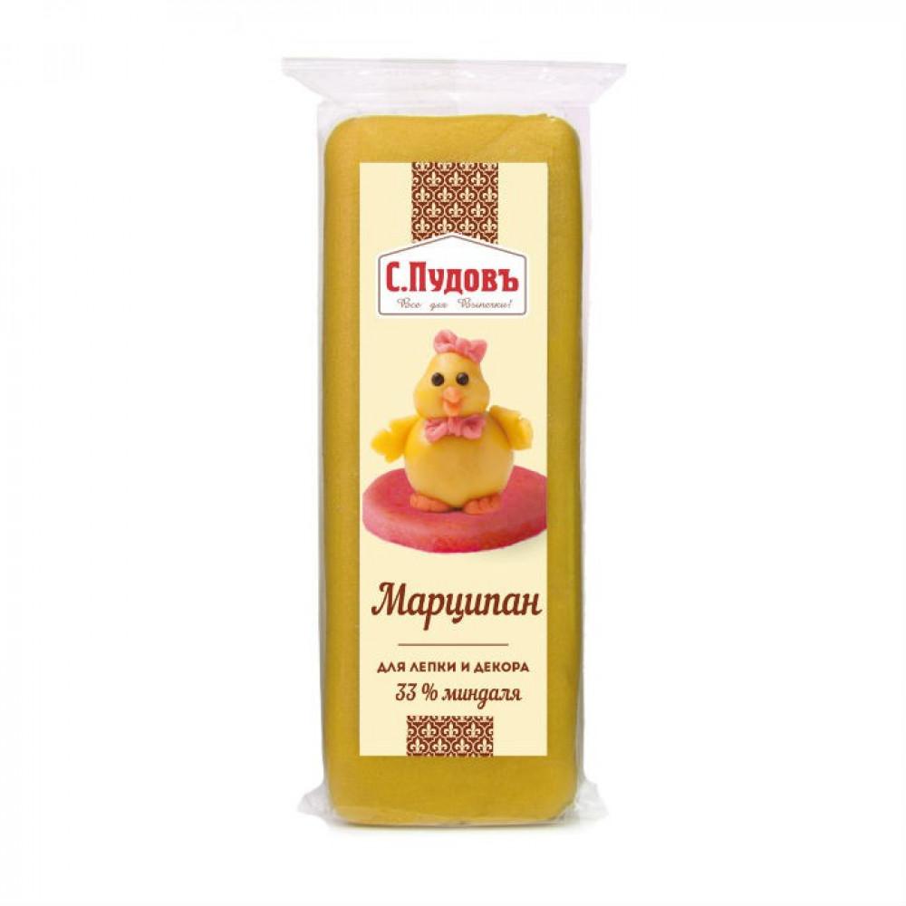 "Марципан желтый т.м. ""С.Пудовъ"", Россия, фасовка 100 гр"