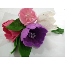 Тюльпан из мастики