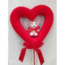 Сердечко с мишкой для декора