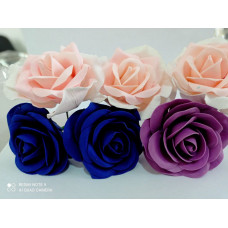Роза из мастики (розовый, синий, фиолетовый)