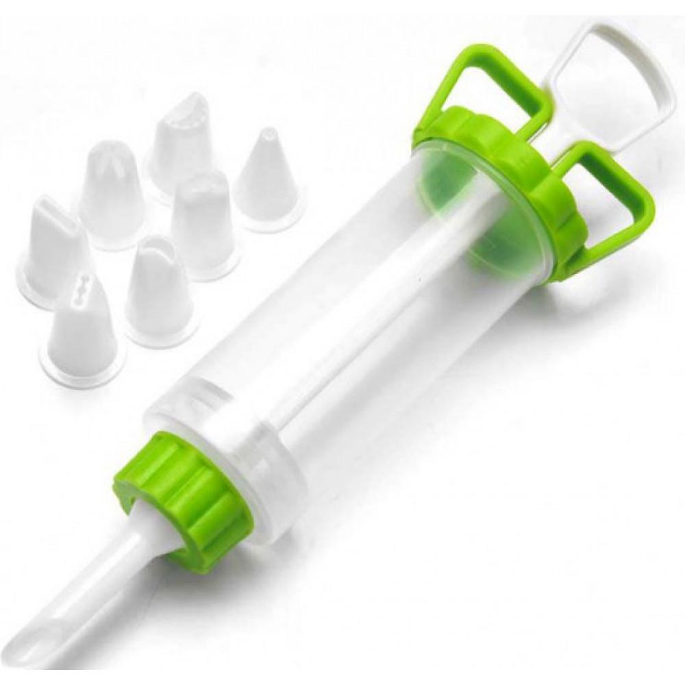 Кондитерский пластмассовый шприц для крема