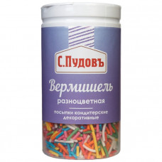 Сахарная посыпка «Вермишель разноцветная» С.Пудовъ, 40 г