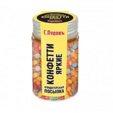 Сахарная посыпка «Конфетти» разноцветная С.Пудовъ, 45 г