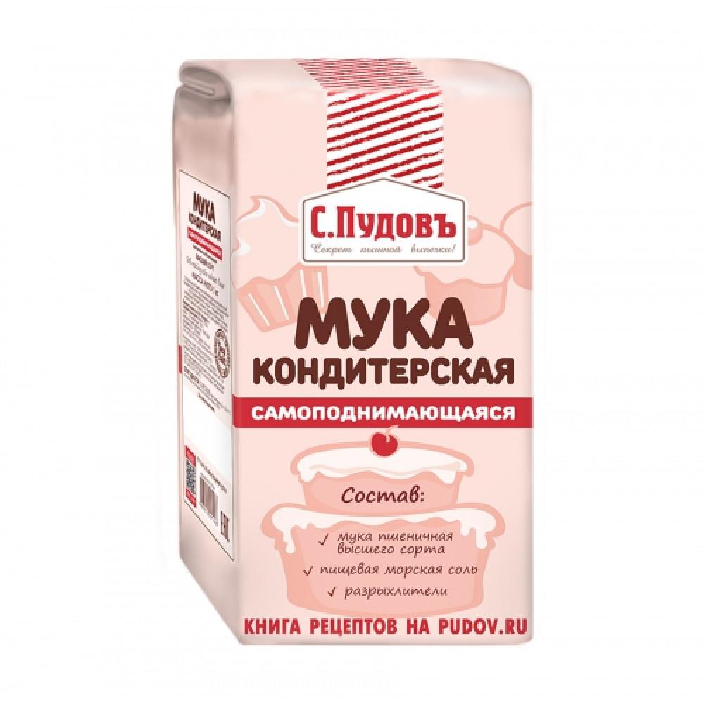 Кондитерская Самоподнимающаяся мука С.Пудовъ, 1 кг