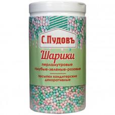 Сахарная посыпка «Шарики перламутровые разноцв.» С.Пудовъ, 40 г