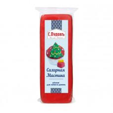 Сахарная мастика(айсинг) для лепки и декора красная С.Пудовъ, 100 г