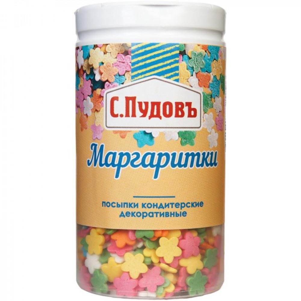 Сахарная посыпка «Маргаритки» разноцветная С.Пудовъ, 40 г