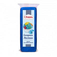Сахарная мастика(айсинг) для лепки и декора синяя С.Пудовъ, 100 г