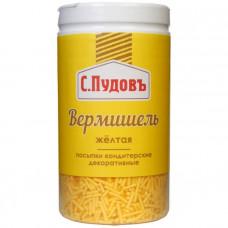 Сахарная посыпка «Вермишель желтая» С.Пудовъ, 40 г