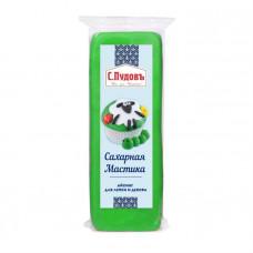 Сахарная мастика(айсинг) для лепки и декора зеленая С.Пудовъ, 100 г