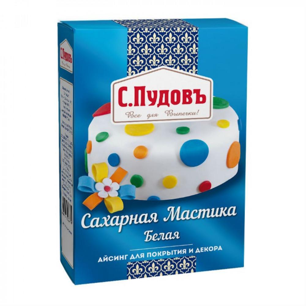 Сахарная мастика(айсинг) для лепки и декора белая С.Пудовъ, 200 г