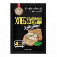 Хлеб в микроволновке «Цельнозерновой с семенами» с протеином, за 4 минуты Золотое утро