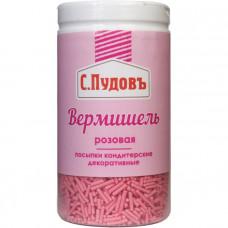 Сахарная посыпка «Вермишель розовая» С.Пудовъ, 40 г