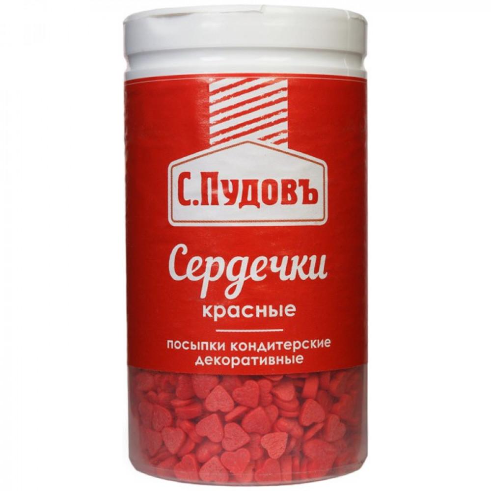 Сахарная посыпка «Сердечки красные» С.Пудовъ, 45 г