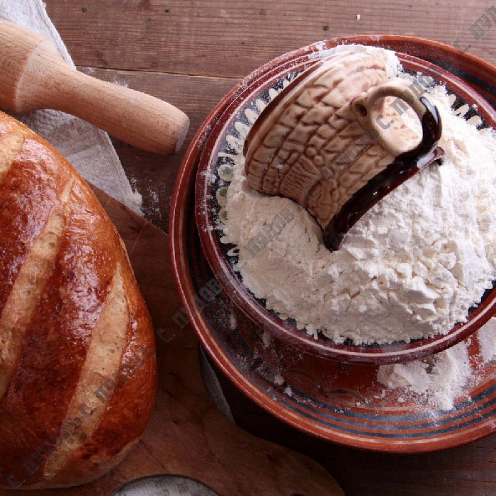 Мука пшеничная хлебопекарная в/с С.Пудовъ, 1 кг